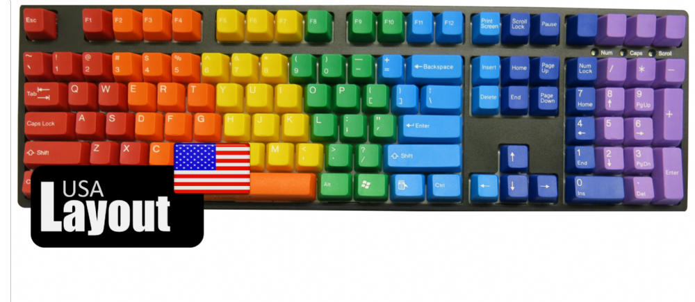 Tai-Hao ABS Keycaps Rainbow Limited Edition USA